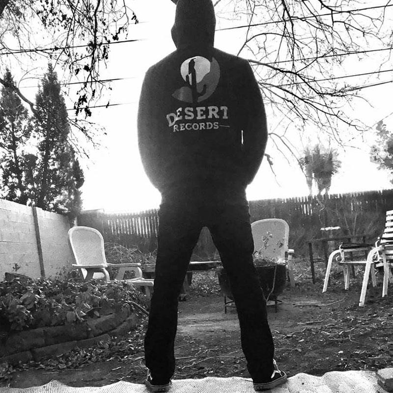 Desert Records hoodie in garden