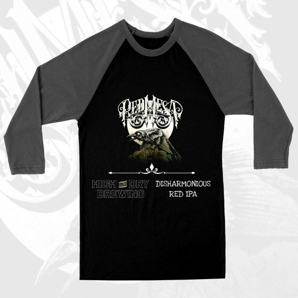 Red Mesa 'Necrow' Baseball T-Shirt